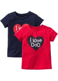 Baby-T-Shirt (2er-Pack) Bio-Baumwolle, bpc bonprix collection