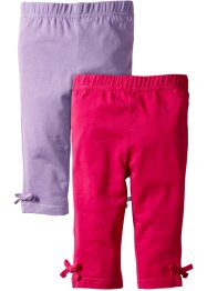 3/4-Leggings (2er-Pack), bpc bonprix collection, dunkelpink/flieder
