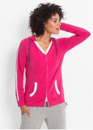 Shirtjacke mit Kängurutasche, bpc bonprix collection, dunkelpink