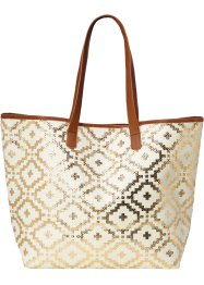 Strandshopper Ethno-Metallic, bpc bonprix collection, creme/gold/braun