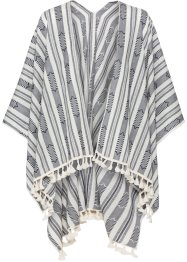 Poncho Boho, bpc bonprix collection, natur/marineblau