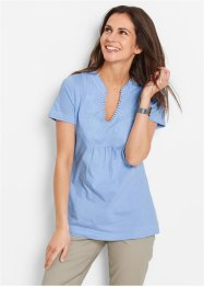 Kurzarmshirt, bpc bonprix collection, perlblau