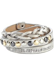 Armband mit Nieten, bpc bonprix collection, metallic beige/silberfarben