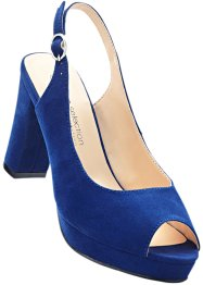 Peeptoeslingpumps, bpc selection, blau