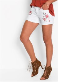 Jeans-Shorts mit Stickerei, BODYFLIRT, white denim