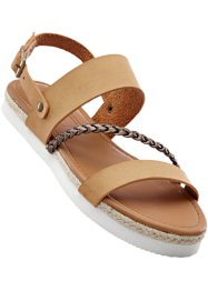 Sandale, bpc bonprix collection, camel/bronze