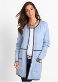 Strickjacke, bpc selection, taubenblau/anthrazit meliert