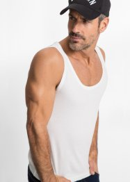 Tanktop (2er-Pack) Slim Fit, bpc bonprix collection, schwarz+weiß