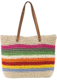 Stroh-Shopper Streifen, bpc bonprix collection, multi