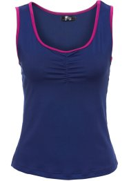 Kurzes Sport-Top mit Gummisaum, bpc bonprix collection