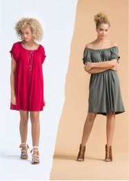 Must Have: Shirtkleid, Carmenausschnitt, RAINBOW