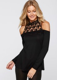 Cold-Shoulder-Shirt mit Spitze, BODYFLIRT boutique