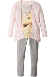 Shirt + Cardigan + Leggings (3-tlg.), bpc bonprix collection