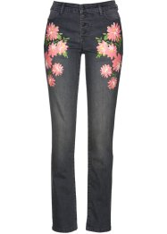 Stretchjeans mit Blumendruck, bpc selection