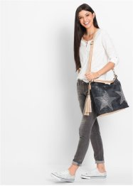 Shopper Denim mit Strassstern, bpc bonprix collection
