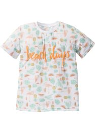 T-Shirt mit Neon-Puffdruck, bpc bonprix collection