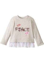 Sweatshirt mit Chiffonvolant, bpc bonprix collection