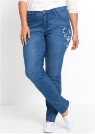 Stretch-Jeans mit Stickerei CLASSIC, John Baner JEANSWEAR