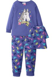 Pyjama + Puppennachthemd (3-tlg.), bpc bonprix collection