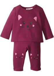 Baby Sweatshirt + Sweathose (2-tlg.) Bio-Baumwolle, bpc bonprix collection