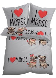 "Bettwäsche ""Mops"", bpc living bonprix collection"