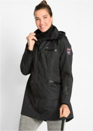 Funktions-Outdoorlangjacke mit Kapuze in 2-in-1-Optik, bpc bonprix collection