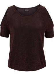 Cut-Out-Shirt mit Lurex, BODYFLIRT