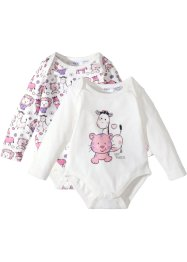 Baby Langarmbody (2er-Pack) Bio-Baumwolle, bpc bonprix collection