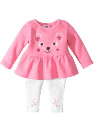 Baby Sweatkleid + Leggings Bio-Baumwolle (2-tlg.), bpc bonprix collection