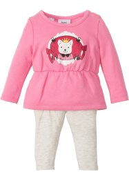 Baby Sweatkleid + Leggings (2-tlg.) Bio-Baumwolle, bpc bonprix collection