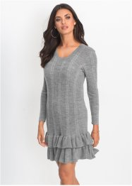 Strickkleid mit Volants, BODYFLIRT