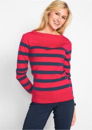 Langarm-Pullover mit U-Boot-Ausschnitt, bpc bonprix collection