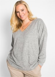 Fleece-Pullover mit V-Ausschnitt, bpc bonprix collection