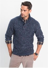 Melierter Troyerpullover Regular Fit, bpc bonprix collection