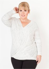 Langarmshirt in Wickeloptik – designt von Maite Kelly, bpc bonprix collection