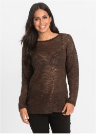 Strickpullover mit Glitzerprint, BODYFLIRT