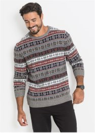 Norweger Rundhalspullover Regular Fit, bpc bonprix collection
