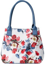Henkeltasche mit Blumen, bpc bonprix collection
