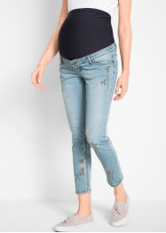 Umstandsjeans 7/8, Skinny mit Stickerei, bpc bonprix collection