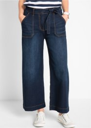 7/8-High Waist Jeans mit Bindegürtel, Loose-Fit, bpc bonprix collection