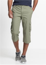 3/4-Stretch-Cargohose mit Rippbund Regular Fit, bpc bonprix collection