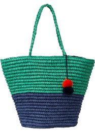Strandshopper Zweifarbig mit Bommel, bpc bonprix collection