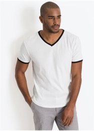 T-Shirt mit V-Ausschnitt Slim Fit, bpc bonprix collection
