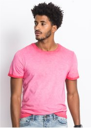T-Shirt Slim Fit in gewaschener Optik, RAINBOW