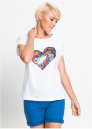 T-Shirt mit Pailletten, RAINBOW