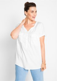 Viskose-Bluse, kurzarm, bpc bonprix collection