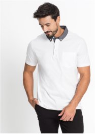 Poloshirt mit gewebtem Kragen Regular Fit, bpc bonprix collection
