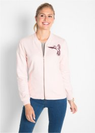 Sweatjacke mit Stickerei, bpc bonprix collection