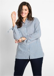 Langarm-Bluse mit Bindedetail, bpc bonprix collection