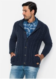 Strickjacke mit Zopfmuster Regular Fit, John Baner JEANSWEAR